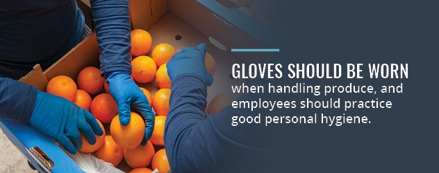 Wear Gloves for Food Safety