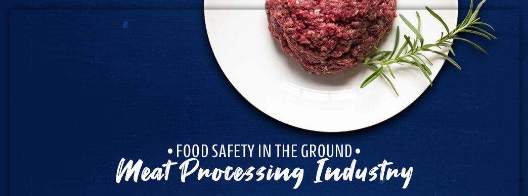 Raw ground beef on a plate