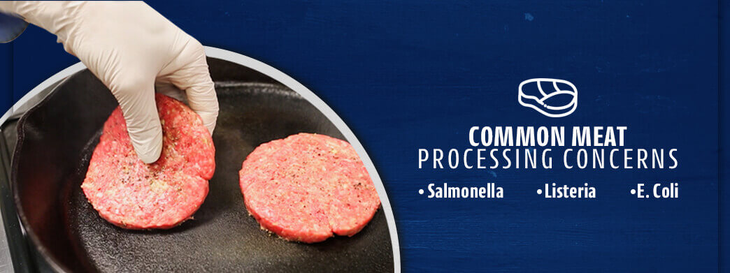 Cooking meat patties in a skillet
